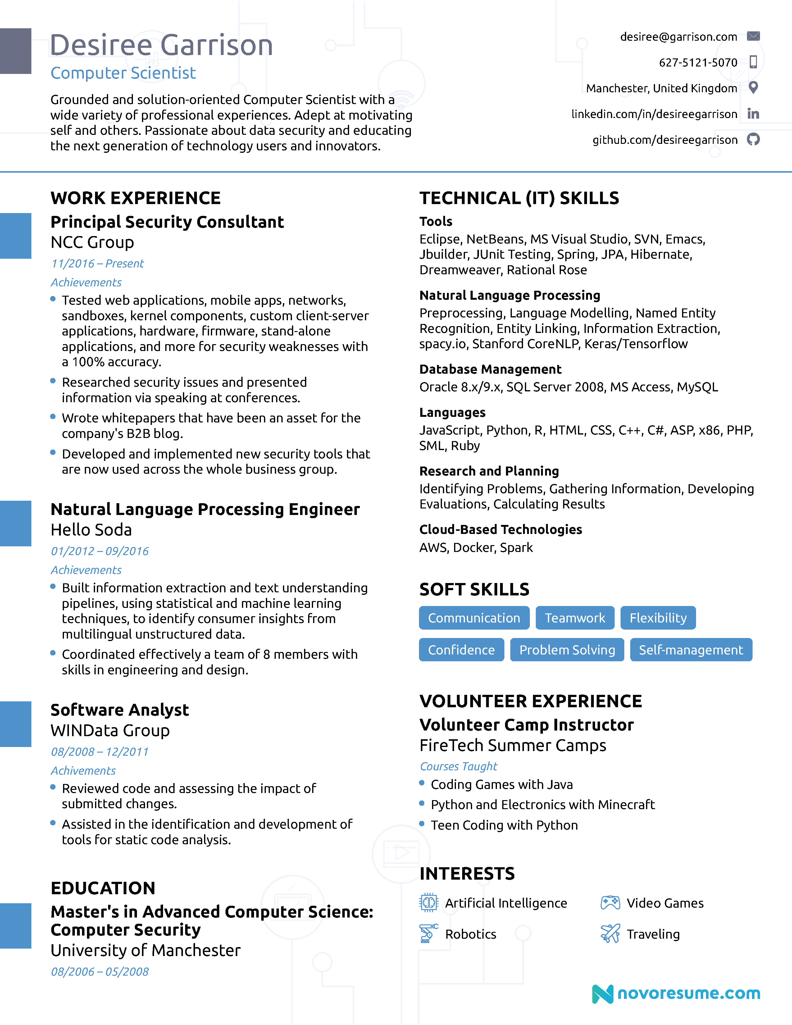 Computer Science Resume [2020] - Guide & Examples