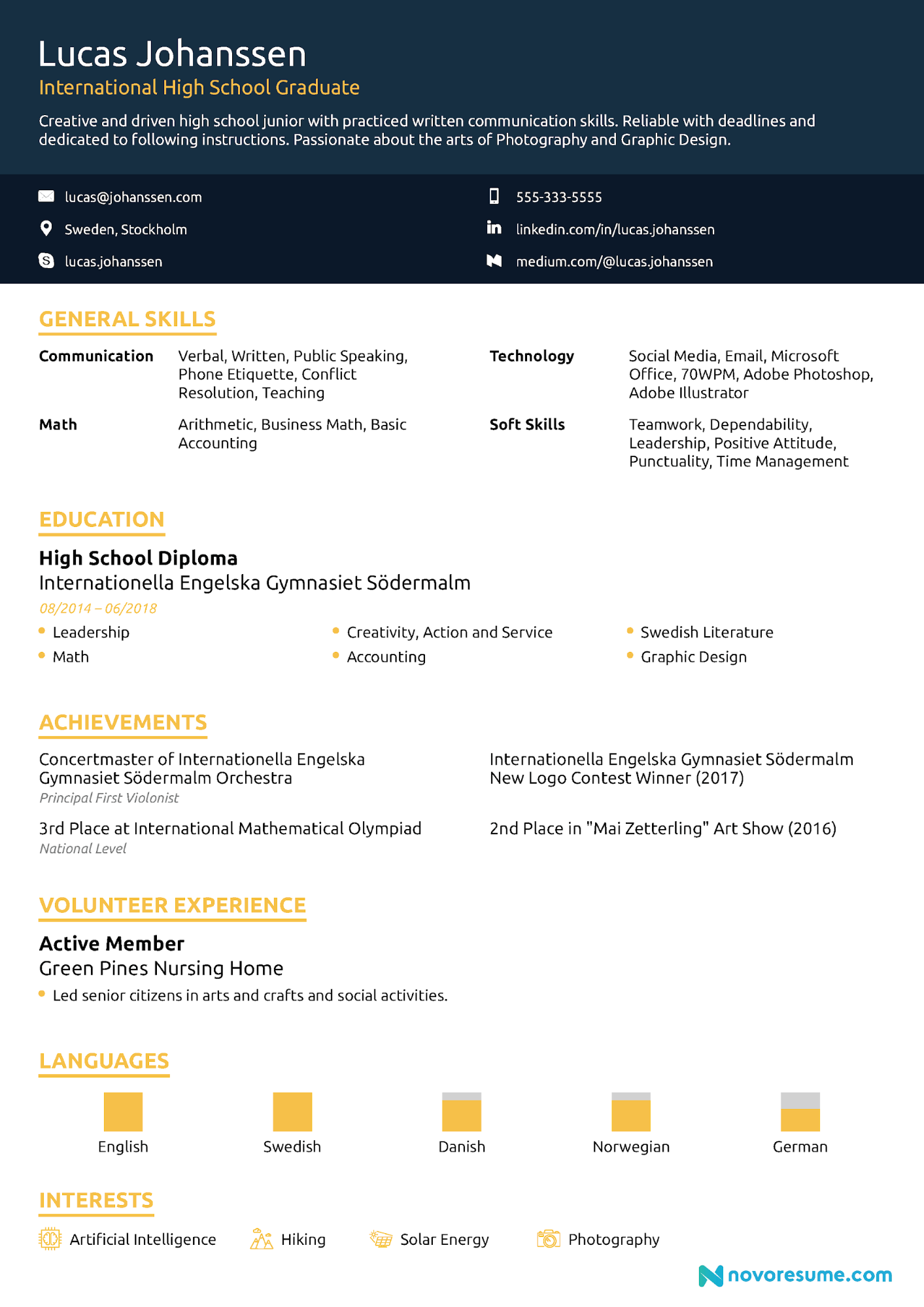 Student Resume Examples Guide For 2020