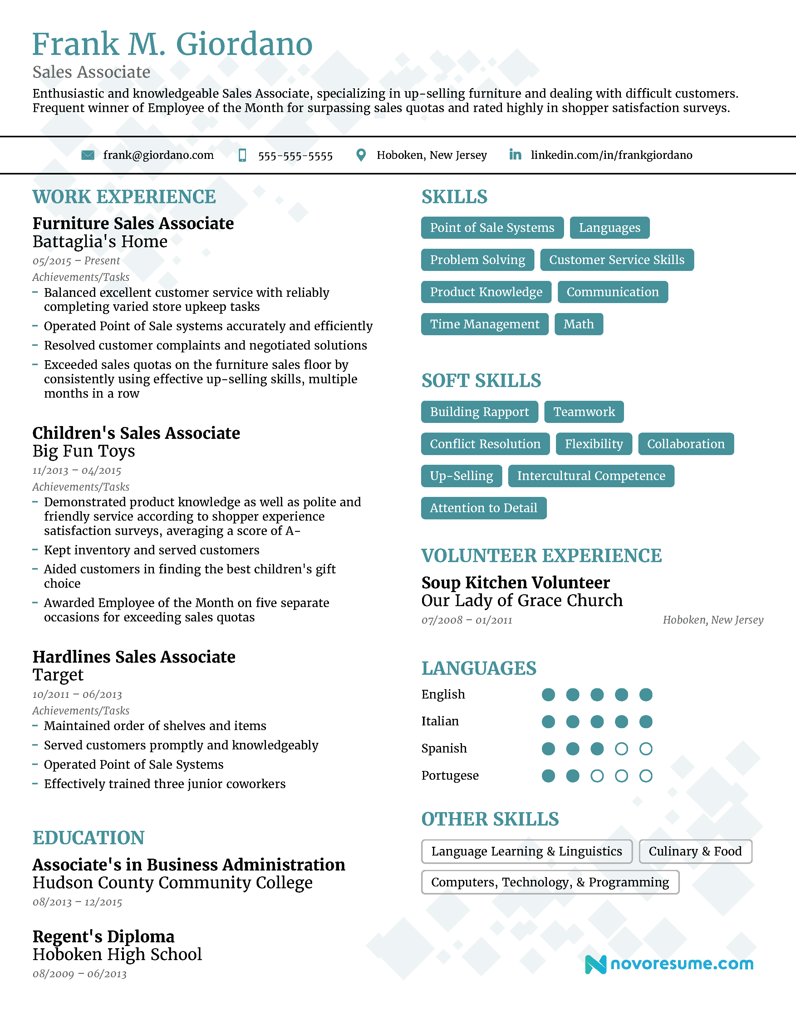 sales associate resume 2018 example full guide