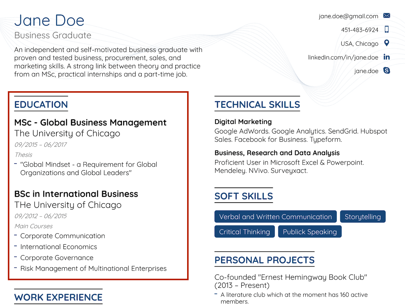 How to Write a Resume with No Experience [30+ Examples]