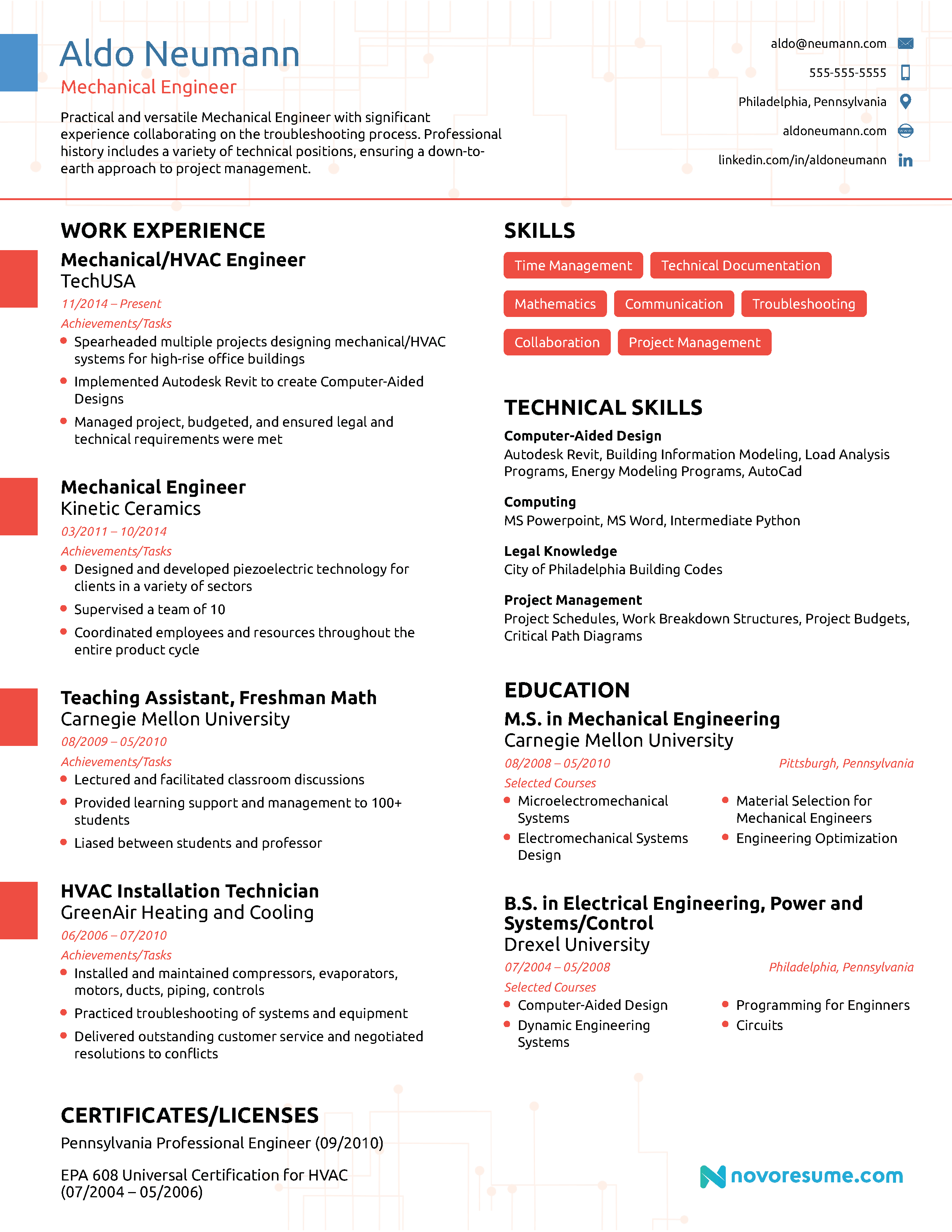 Engineering Resume [2018] - Example & Full Guide