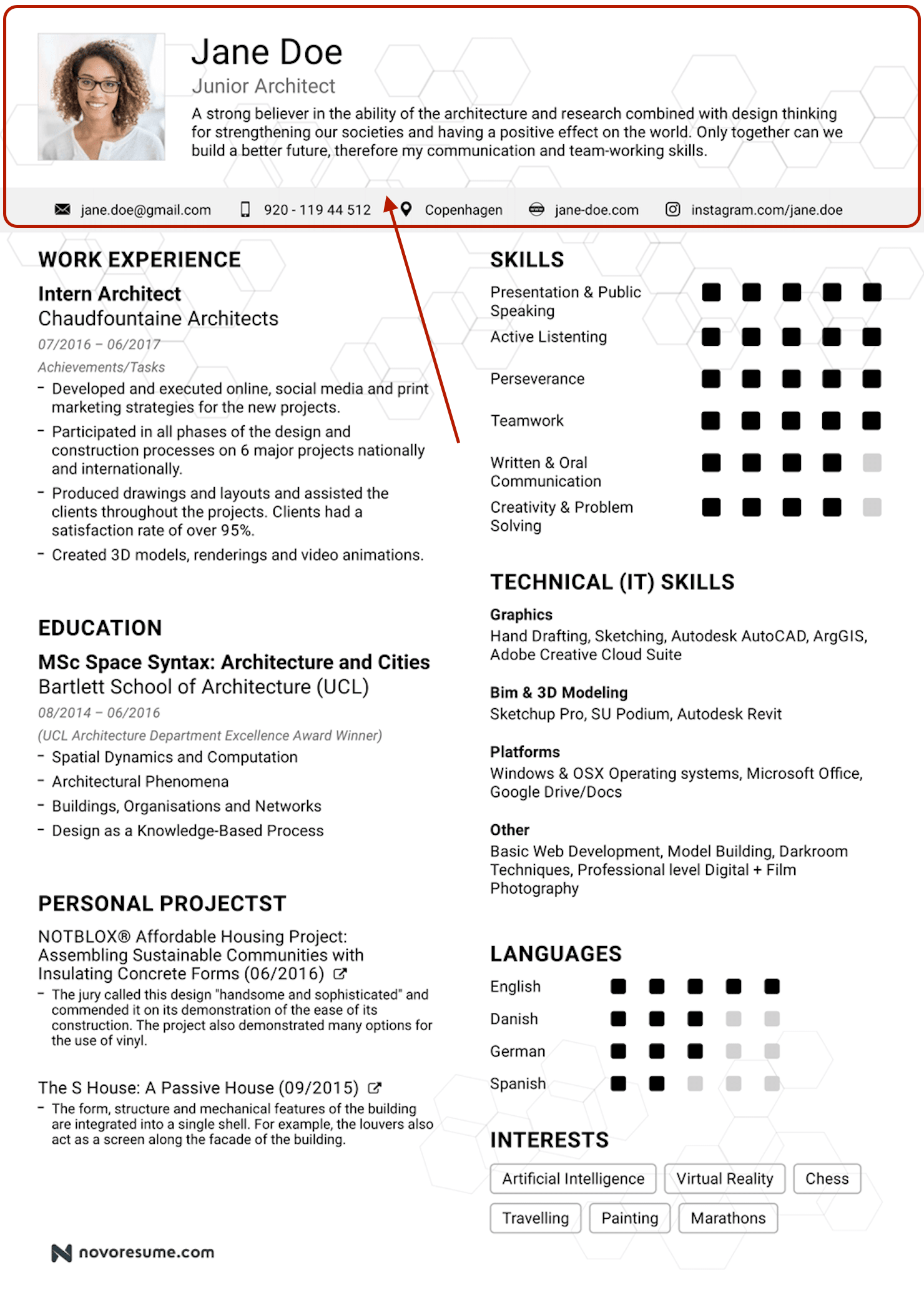 How To Create A Resume Header 5 Examples