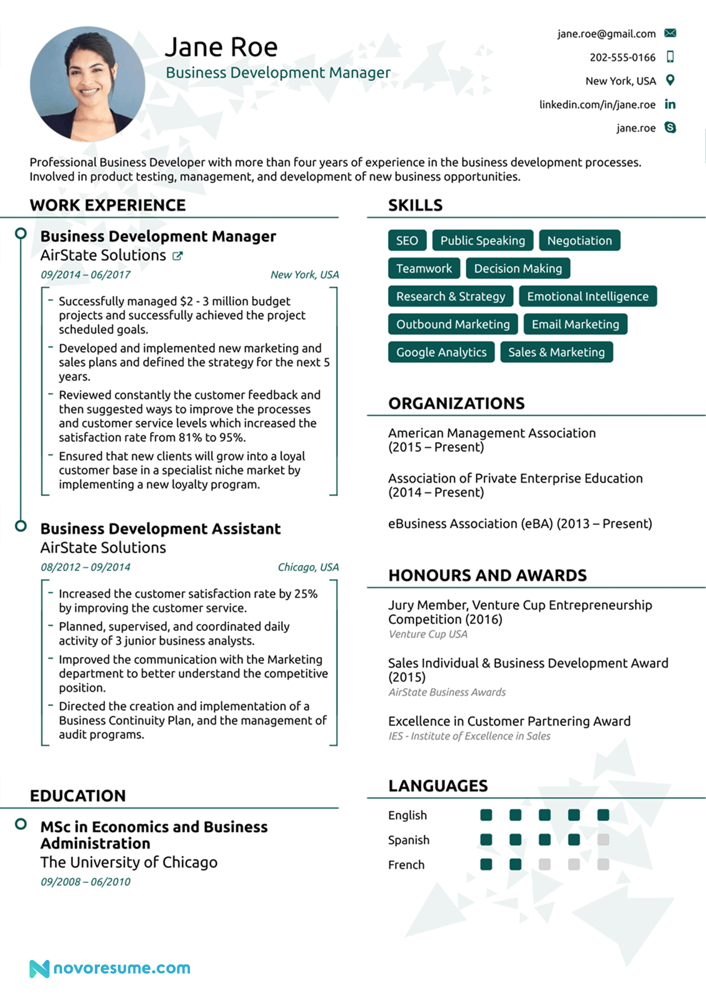 resume format 2020 examples  resume example assistant