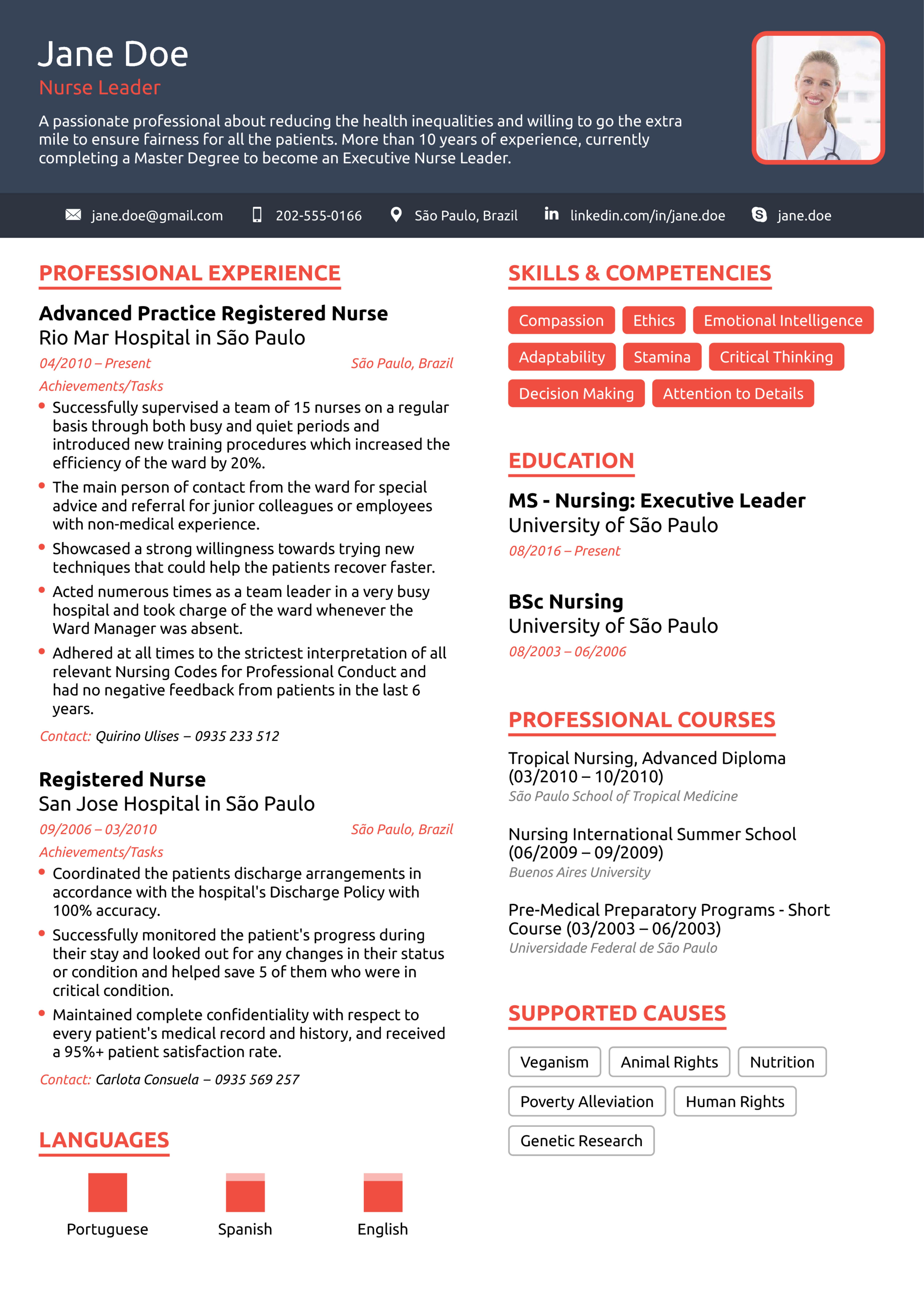 nurse resume example  2019