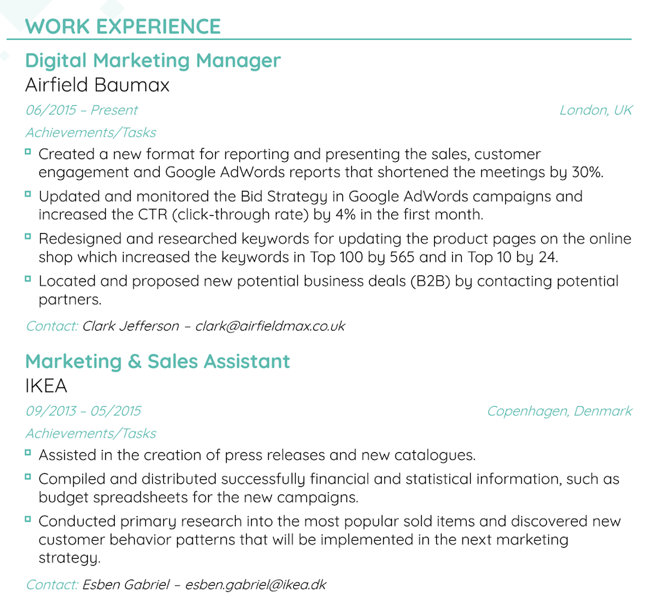 What S The Best Resume Font Size And Format For 2020