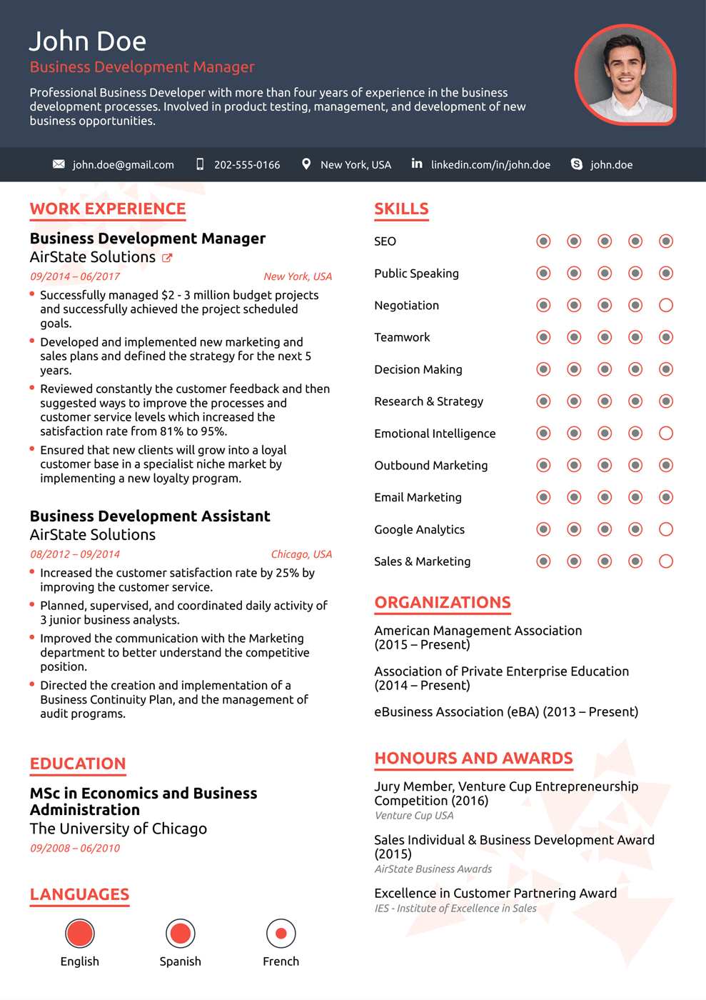 20 One Page Resume Templates Free Download