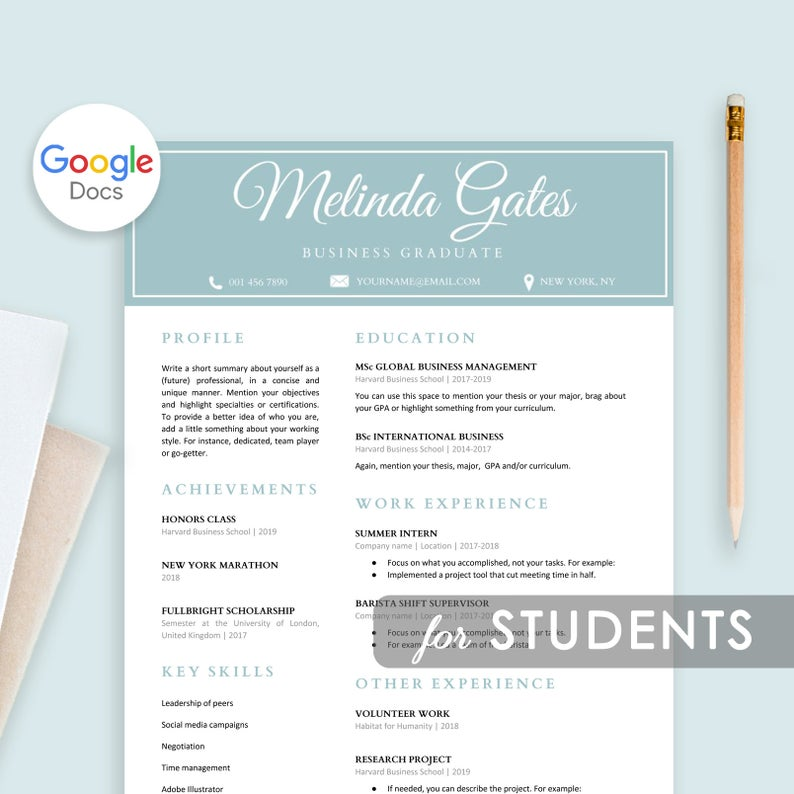 20 Google Docs Resume Templates Download Now