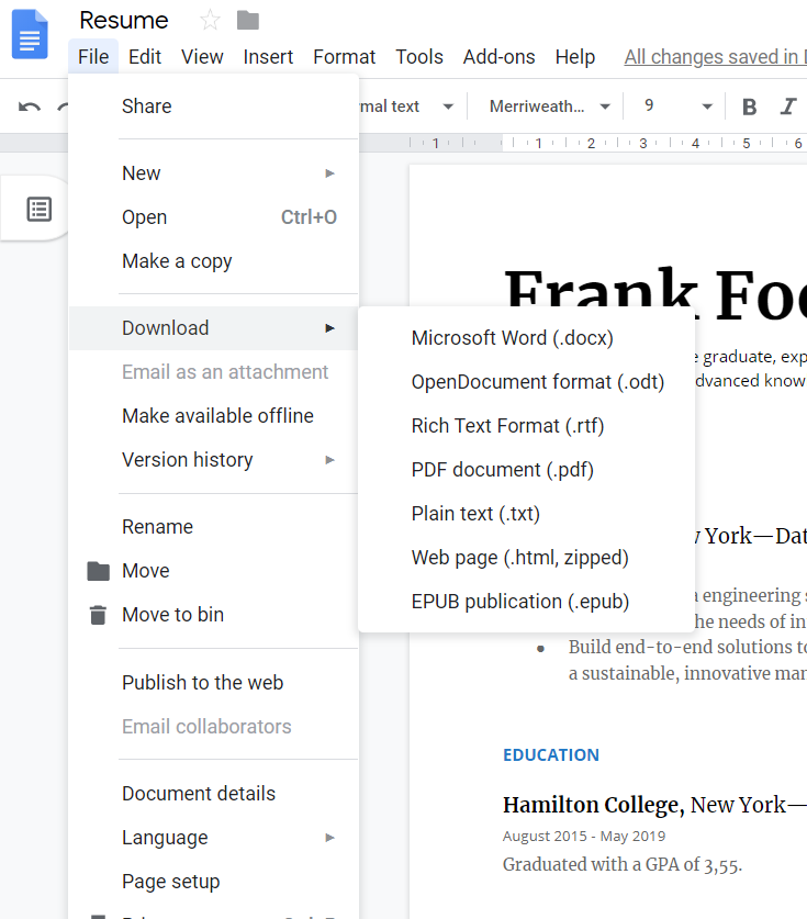 20+ Google Docs Resume Templates [Download Now]