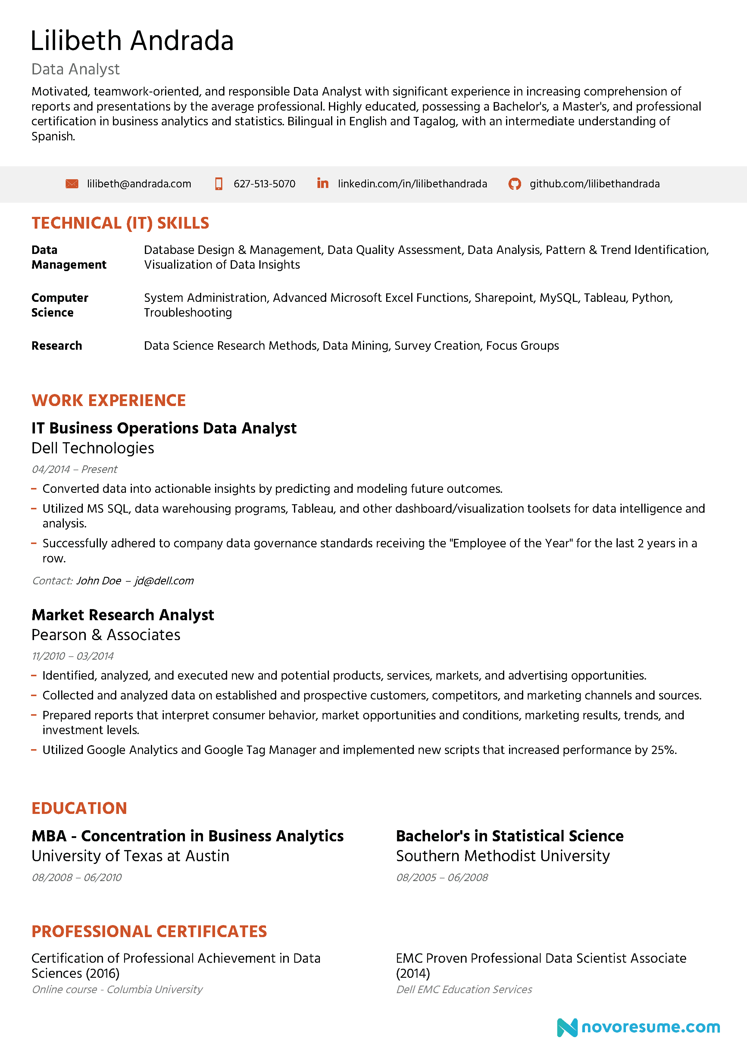 resume design less is more
