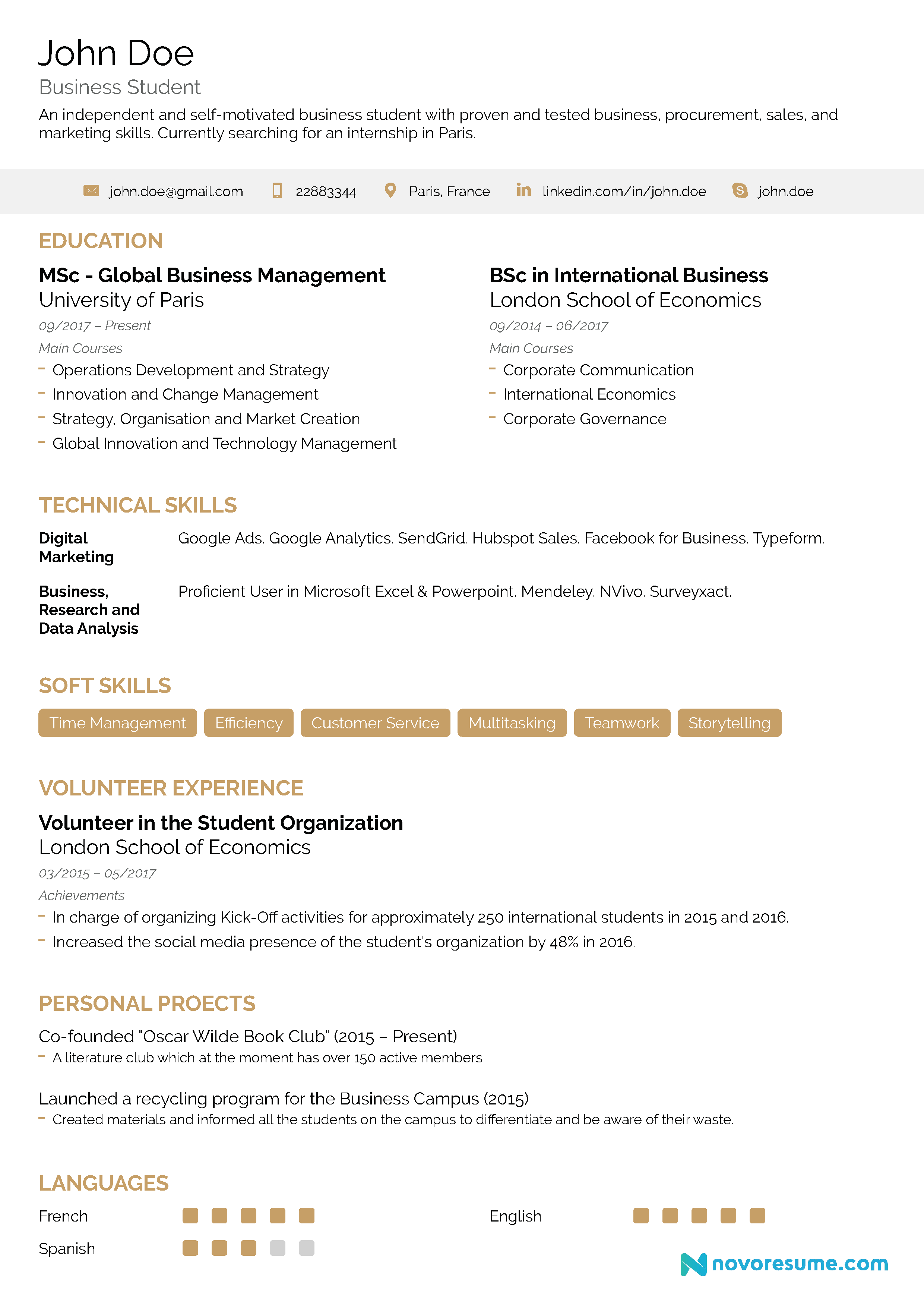 internship resume examples  2019    writing guide