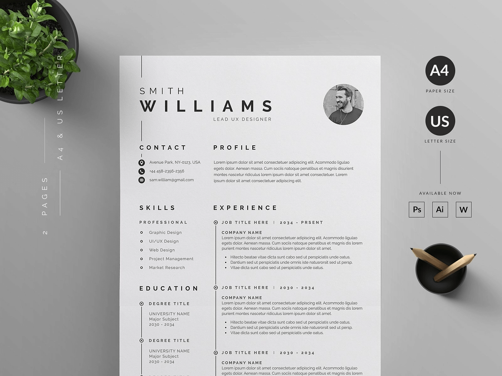 20 Free And Premium Word Resume Templates Download