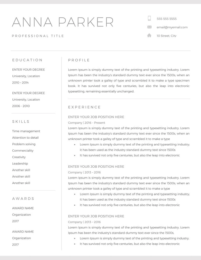 20+ Free and Premium Word Resume Templates [Download]