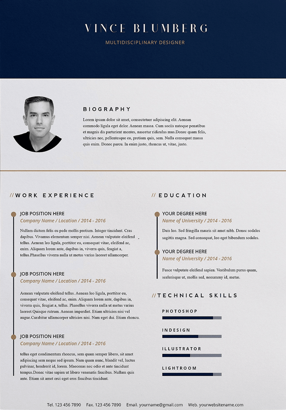 Word Resume Templates 20 Free And Premium Download