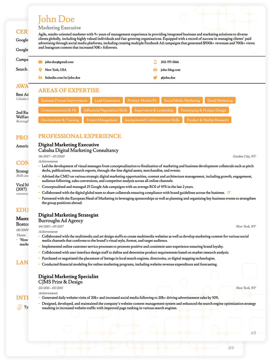 8 Job Winning Cv Templates Curriculum Vitae For 2020