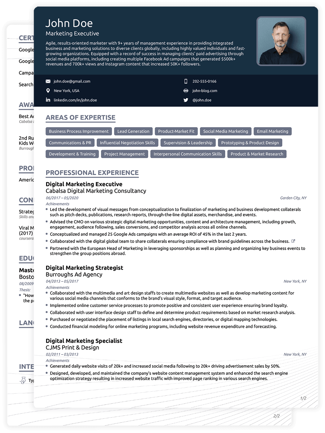 Doc Resume Template Download