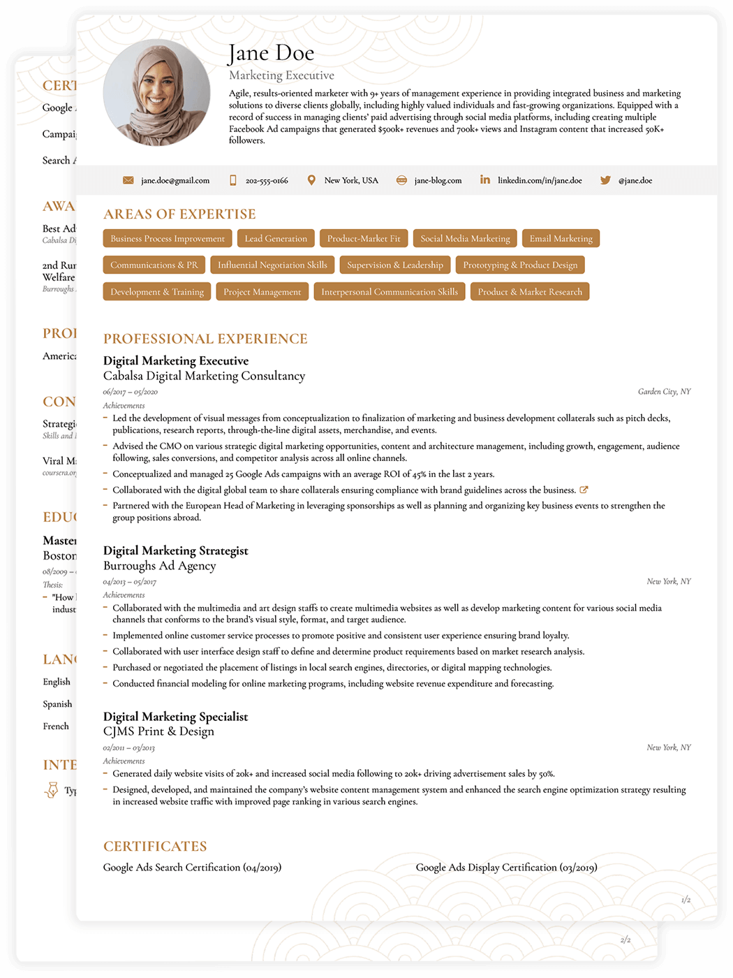 8 Job Winning Cv Templates Curriculum Vitae For 2021