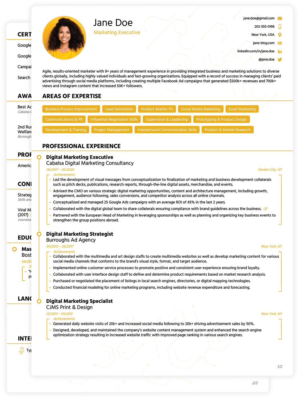 Best job winning cv templates for 2018 download edit for Resmue templates