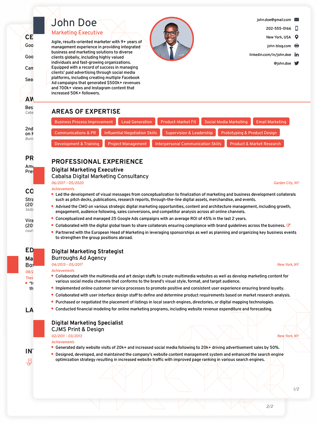 personalized resume
